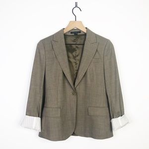 Theory Wool Double Breasted Button Blazer Jacket